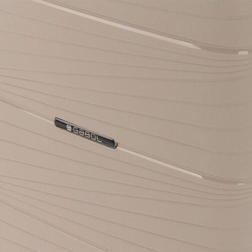 Gabol Kiba bővíthető bőrönd (közepes méret) bézs anyaga