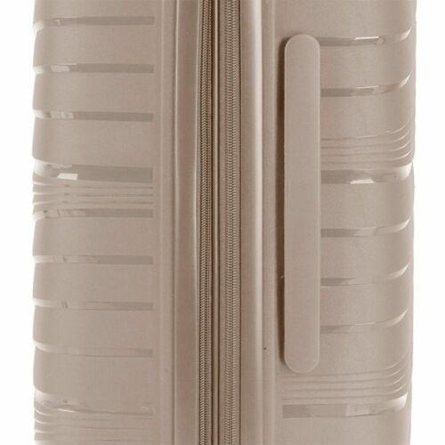 Gabol Kiba bővíthető bőrönd (közepes méret) bézs bővíthetőség
