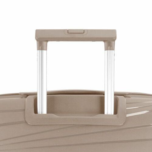 Gabol Kiba bővíthető bőrönd (közepes méret) bézs húzókar
