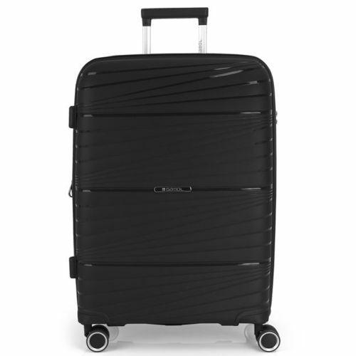 Gabol Kiba bővíthető bőrönd (közepes méret) fekete