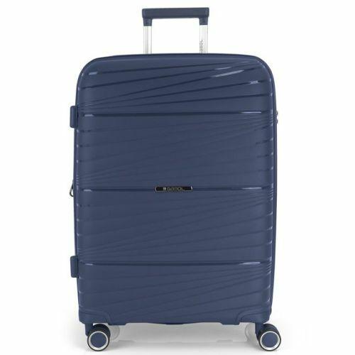 Gabol Kiba bővíthető bőrönd (közepes méret) kék