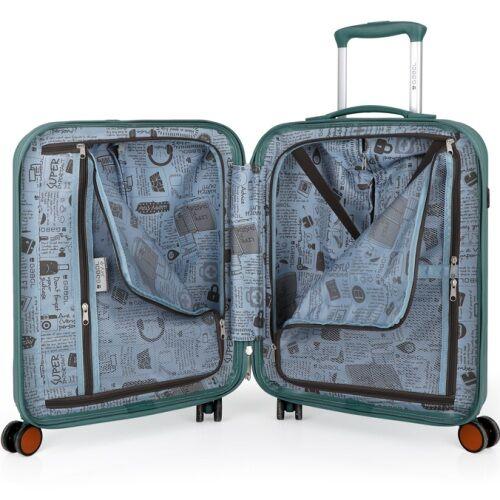 A bőrönd belseje