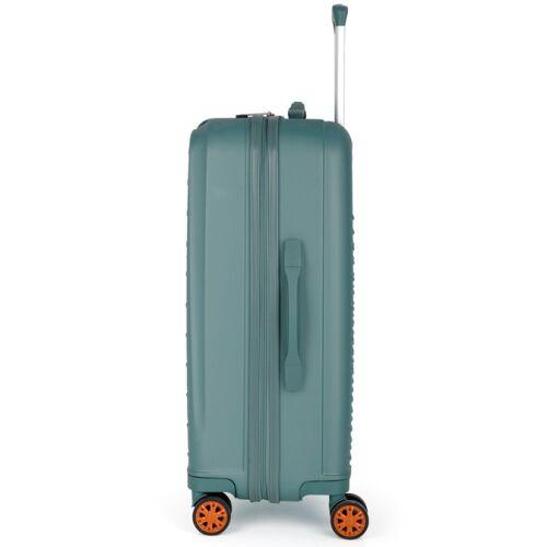 A közepes bőrönd oldalról