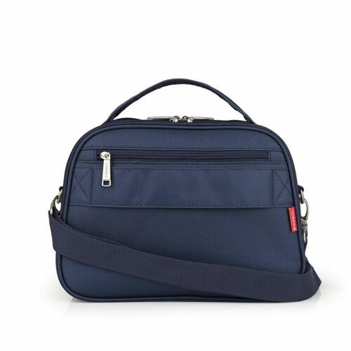Gabol Mailer neszesszer és kozmetikai táska kék hátulról