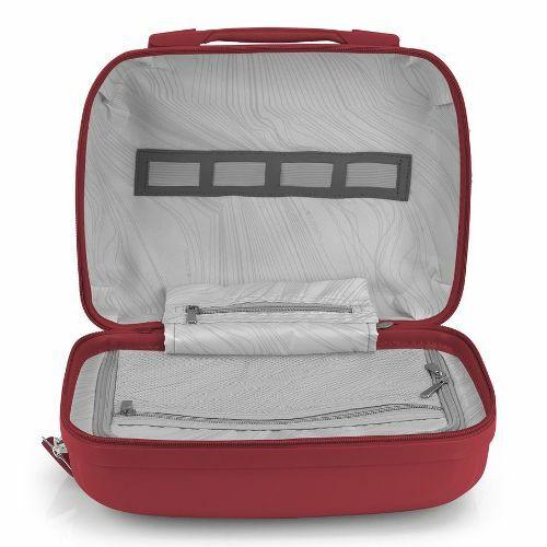 Gabol Kiba kozmetikai táska (keményfedeles) piros belső