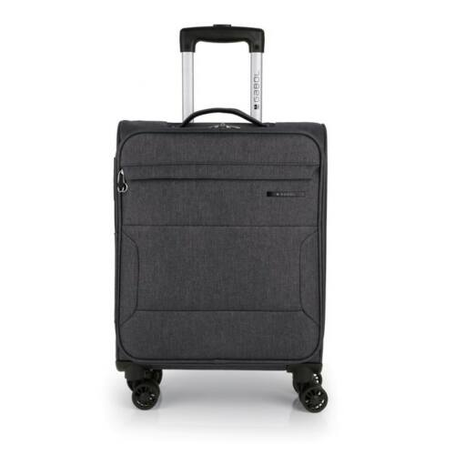 sötétszürke bőrönd