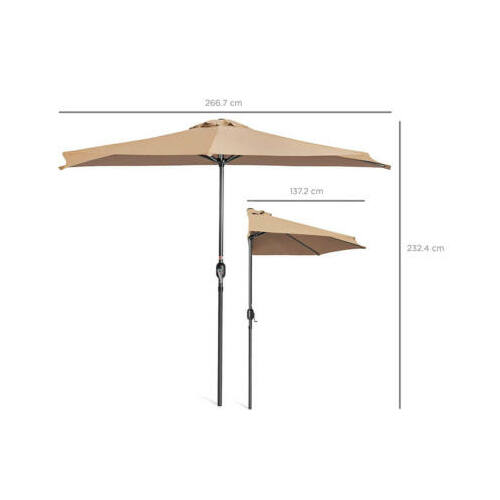 Balkon napernyő talp nélkül méretei