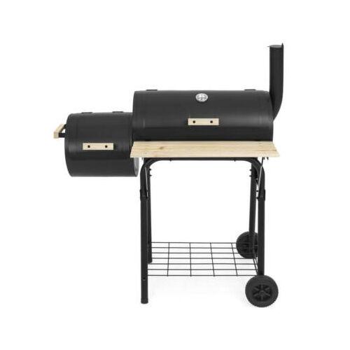 Faszenes BBQ grill és smoker (füstölő) 2in1 hátulról