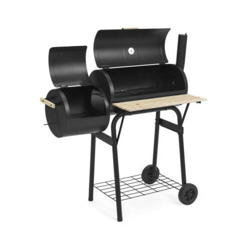 Faszenes BBQ grill és smoker (füstölő) 2in1 belső