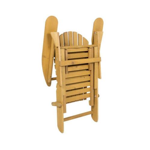 Fa összecsukható kerti szék összecsukva