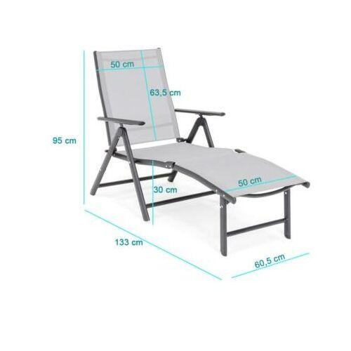 Comfort napozóágy, dönthető és állítható méretei