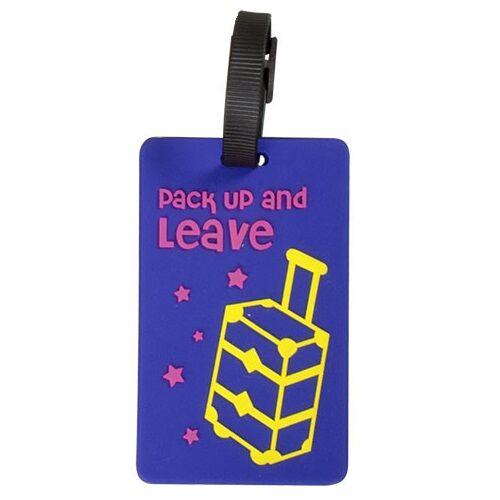 kék bőröndös bőröndcímke