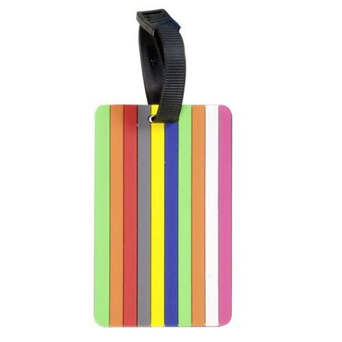 színes csíkos bőröndcímke
