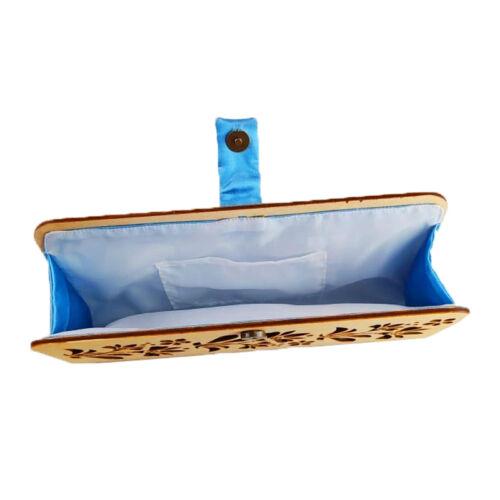 CASUAL női alkalmi táska fából (natúr-kék) belseje