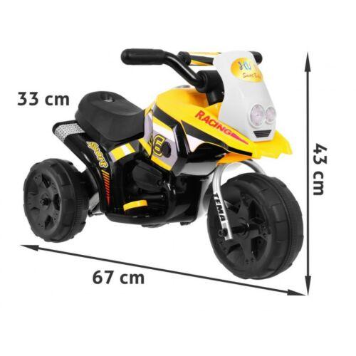 3 kerekű elektromos kisMotor gyerekeknek méretei