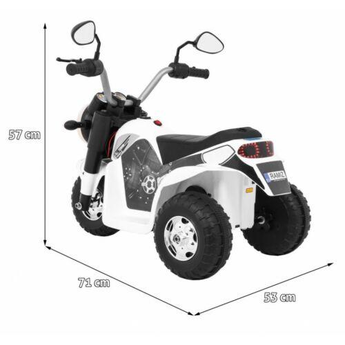 Chopper elektromos kisMotor gyerekeknek (3 kerekű) méretei