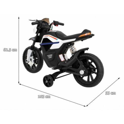 Night Rider elektromos kisMotor gyerekeknek (segédkerekekkel) méretei