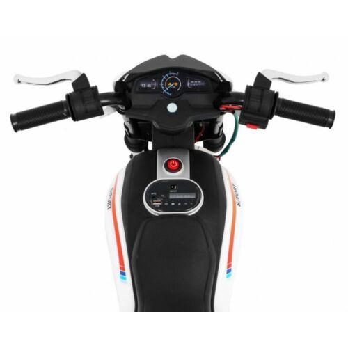 Night Rider elektromos kisMotor gyerekeknek (segédkerekekkel) műszerfal