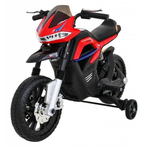 Night Rider elektromos kisMotor gyerekeknek (segédkerekekkel) piros