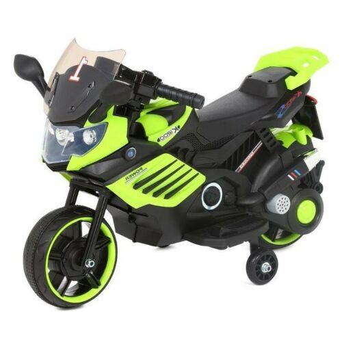 Power elektromos kisMotor gyerekeknek (segédkerekekkel) zöld