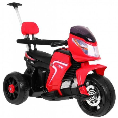 3in1 elektromos kisMotortricikli gyerekeknek (tolórúddal, pedállal) piros