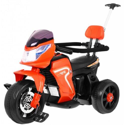 3in1 elektromos kisMotortricikli gyerekeknek (tolórúddal, pedállal) narancssárga