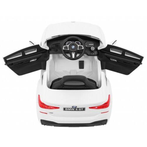 BMW 6 GT elektromos kisautó gyerekeknek (távirányítóval, 1 személyes) fehér felülről