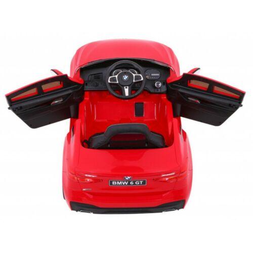 BMW 6 GT elektromos kisautó gyerekeknek (távirányítóval, 1 személyes) piros felülről