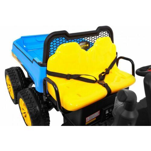 Farmer elektromos kisteherautó gyerekeknek (távirányítóval, 1 személyes) kék ülése