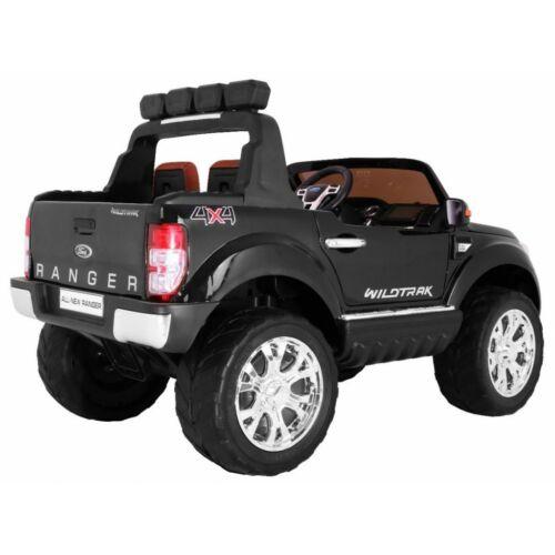 Ford Ranger Lift 4x4 elektromos kisautó gyerekeknek (távirányítóval, 1 személyes) fekete hátulról