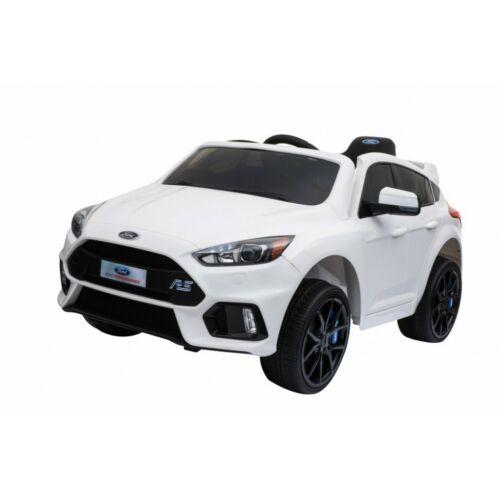Ford Focus RS elektromos kisautó gyerekeknek (távirányítóval, 1 személyes) fehér