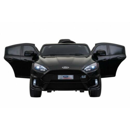 Ford Focus RS elektromos kisautó gyerekeknek (távirányítóval, 1 személyes) fekete szemből