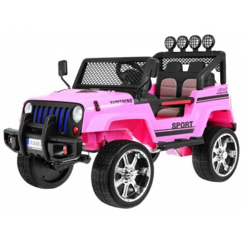 Raptor DRIFTER 4x4 elektromos kisautó gyerekeknek (távirányítóval, 1 személyes) rózsaszín