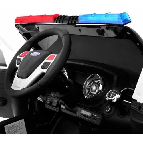 SUV lengyel rendőr elektromos kisautó gyerekeknek (távirányítóval, 1 személyes) műszerfal