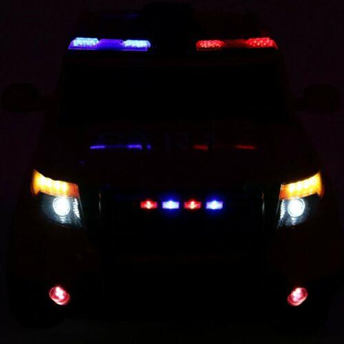 SUV lengyel rendőr elektromos kisautó gyerekeknek (távirányítóval, 1 személyes) lámpák
