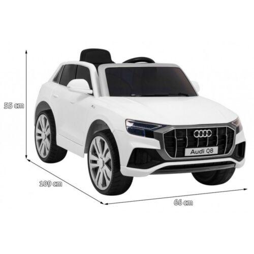 Audi Q8 elektromos kisautó gyerekeknek (távirányítóval, 1 személyes) méretei