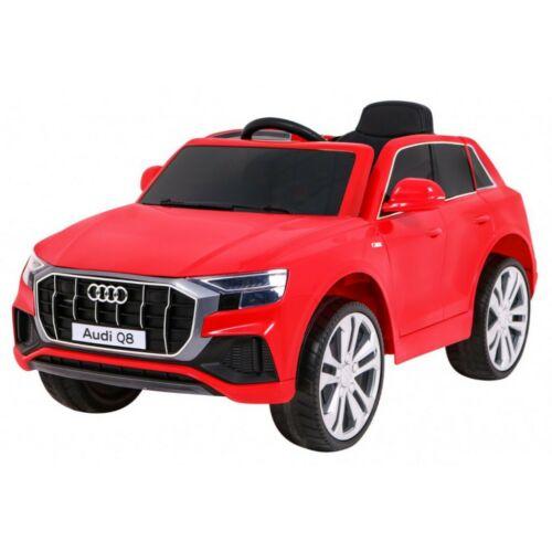 Audi Q8 elektromos kisautó gyerekeknek (távirányítóval, 1 személyes) piros
