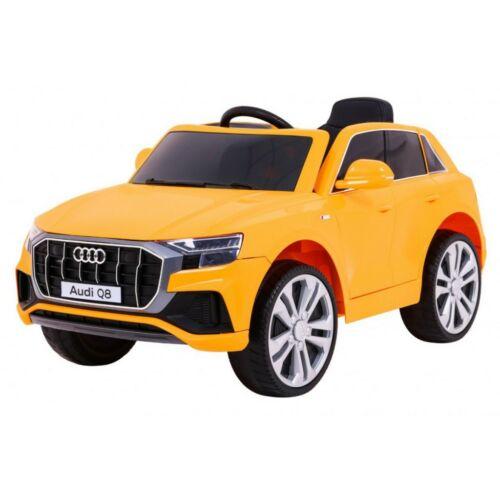 Audi Q8 elektromos kisautó gyerekeknek (távirányítóval, 1 személyes) sárga