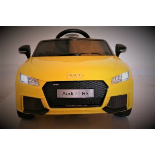 Audi TT Quatro RS elektromos kisautó gyerekeknek (távirányítóval, 1 személyes) elölről