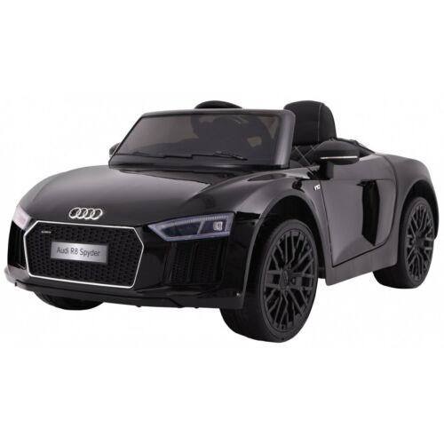 AUDI R8 Spyder elektromos kisautó gyerekeknek (távirányítóval, 1 személyes) - fekete