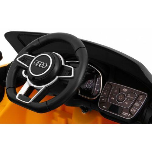 AUDI R8 Spyder elektromos kisautó gyerekeknek (távirányítóval, 1 személyes) sárga műszerfal