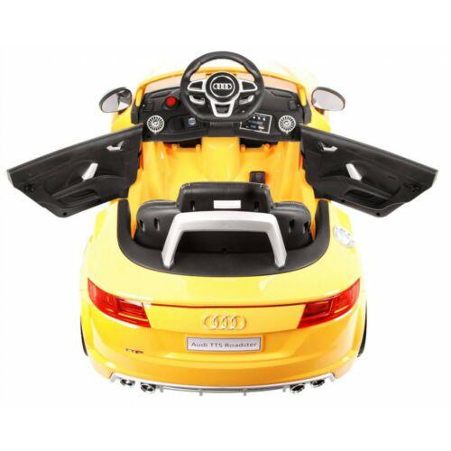 Audi TTS Roadster elektromos kisautó gyerekeknek (távirányítóval, 1 személyes) felülről