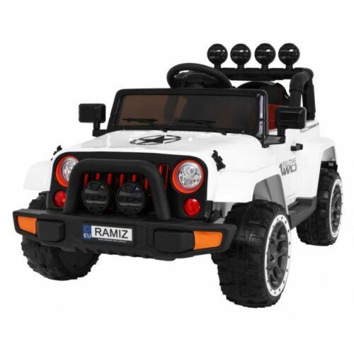 Full Time off-road 4WD elektromos kisautó gyerekeknek (távirányítóval, 1 személyes) fehér