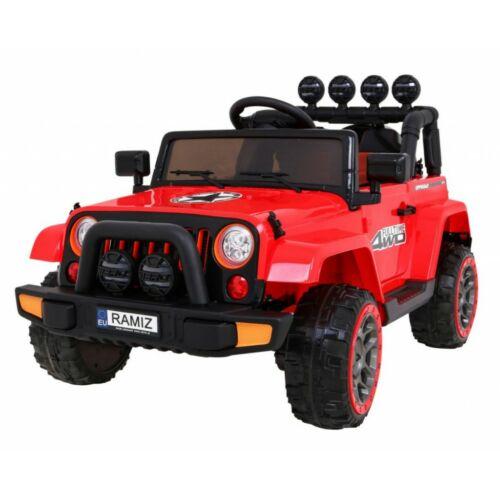 Full Time off-road 4WD elektromos kisautó gyerekeknek (távirányítóval, 1 személyes) piros