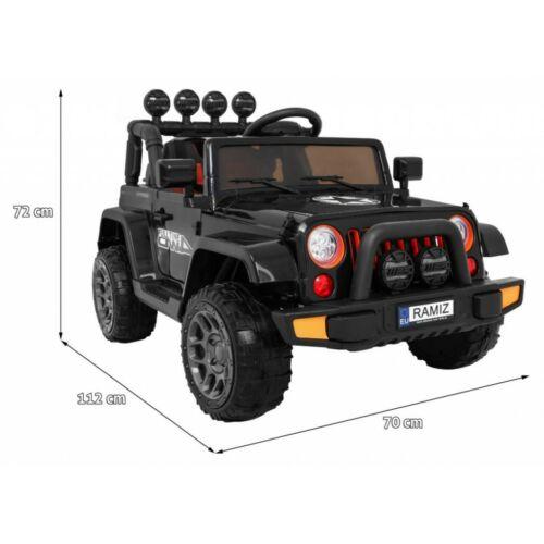 Full Time off-road 4WD elektromos kisautó gyerekeknek (távirányítóval, 1 személyes) méretek
