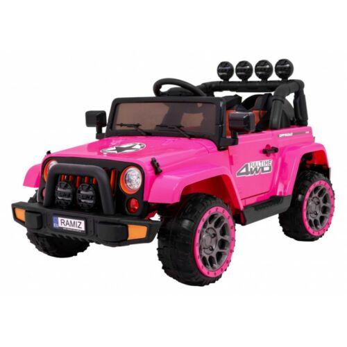 Full Time off-road 4WD elektromos kisautó gyerekeknek (távirányítóval, 1 személyes) rózsaszín