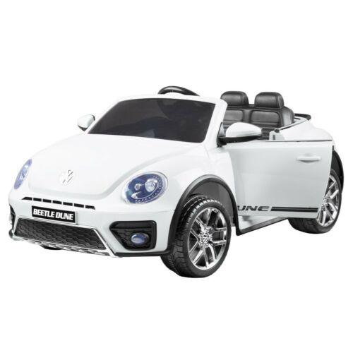 Volkswagen Bogár elektromos kisautó gyerekeknek (távirányítóval, 1 személyes) fehér