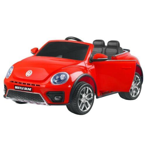 Volkswagen Bogár elektromos kisautó gyerekeknek (távirányítóval, 1 személyes) piros