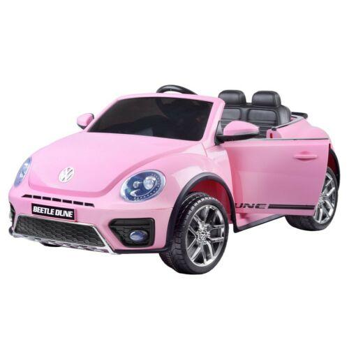 Volkswagen Bogár elektromos kisautó gyerekeknek (távirányítóval, 1 személyes) rózsaszín