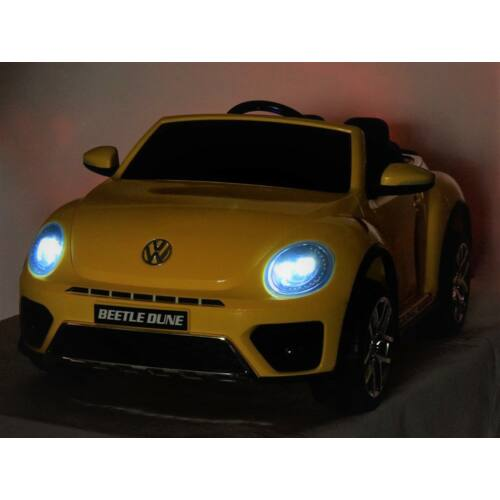 Volkswagen Bogár elektromos kisautó gyerekeknek (távirányítóval, 1 személyes) világítás